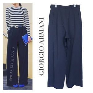 GIORGIO ARMANI // Petite high waist wide leg pants